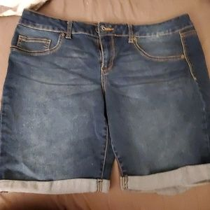 Plus size jean shorts
